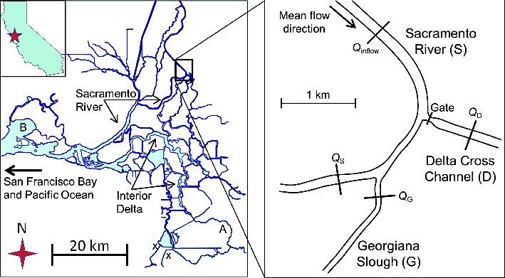 Figure 1.  Location of Delta Cross Channel gate.
