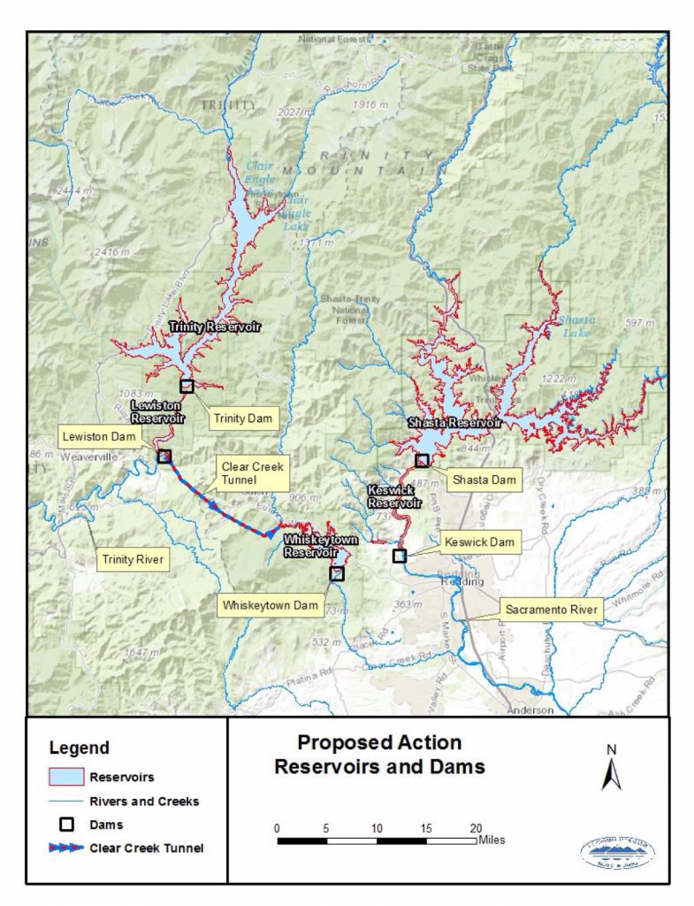 Figure 1. Shasta-Trinity Division of Central Valley Project