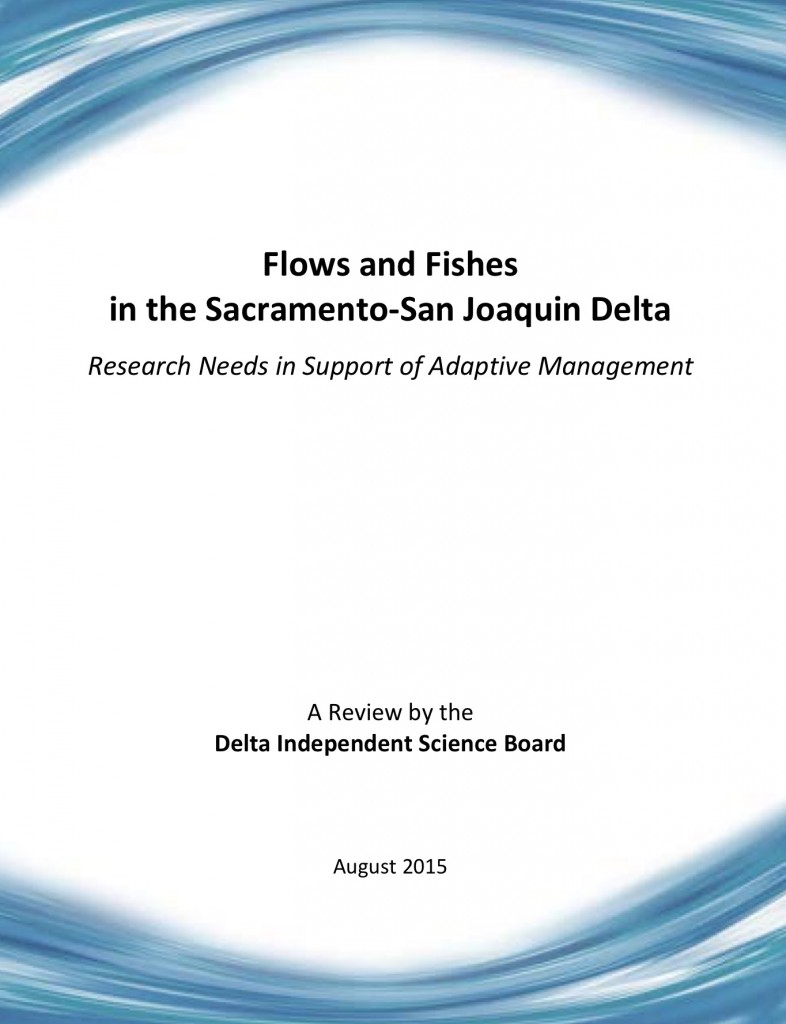 Delta Independant Science Board Report Cover