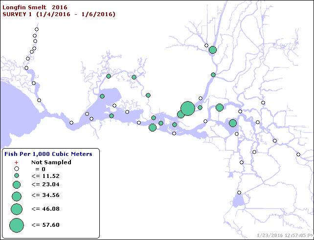 Map of Jan 2016 Catches