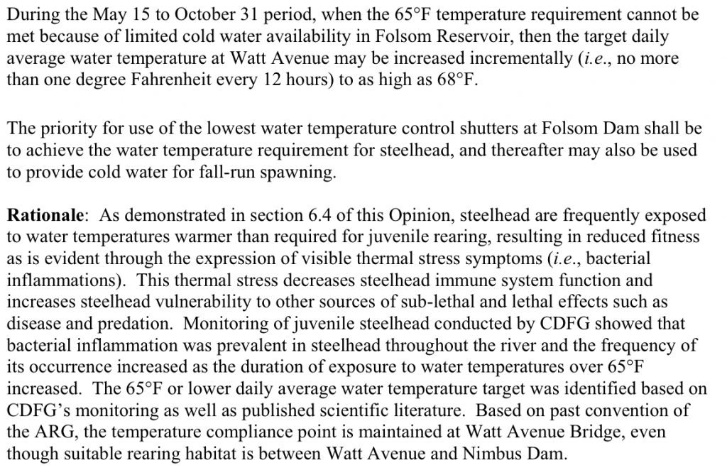 Figure 6. NMFS Biological Opinion excerpt from p615.